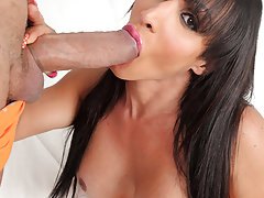 Always sexy Dubraska Ramirez takes in a huge cock in her tranny ass!